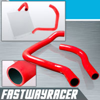 90-01 Acura Integra B16/B18 Bolt On Red Radiator Hose